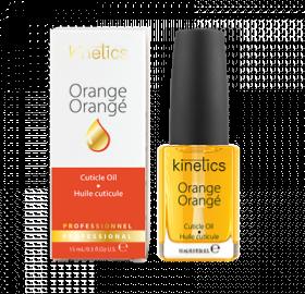 Huile Essentielle à l'Orange 15 ml dans son carton d'emballage Nos soins traitants Kinetics