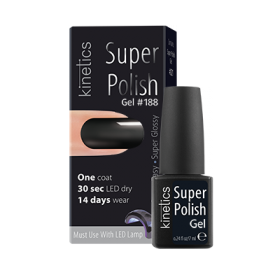 Super Polish Jet Black Vernis semi permanent Kinetics