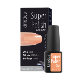 Super Polish Peach Pop Vernis semi permanent Kinetics