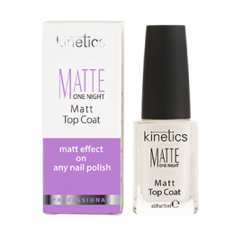 Matte One Night Top Coat 15ml Bases préparatrices Kinetics